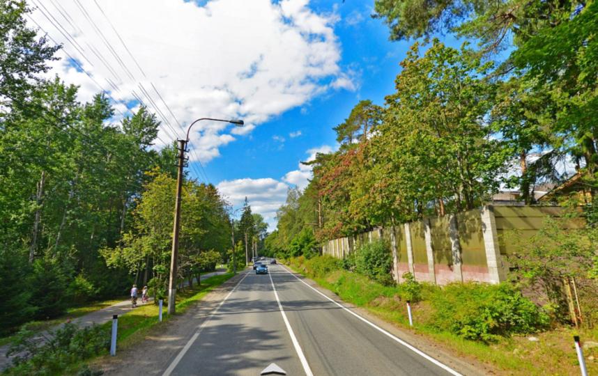 Приморское шоссе, поселок Солнечное. Фото Яндекс.Панорамы