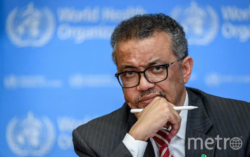 Генеральный директор ВОЗ Тедрос Аданом Гебреисус. Фото AFP