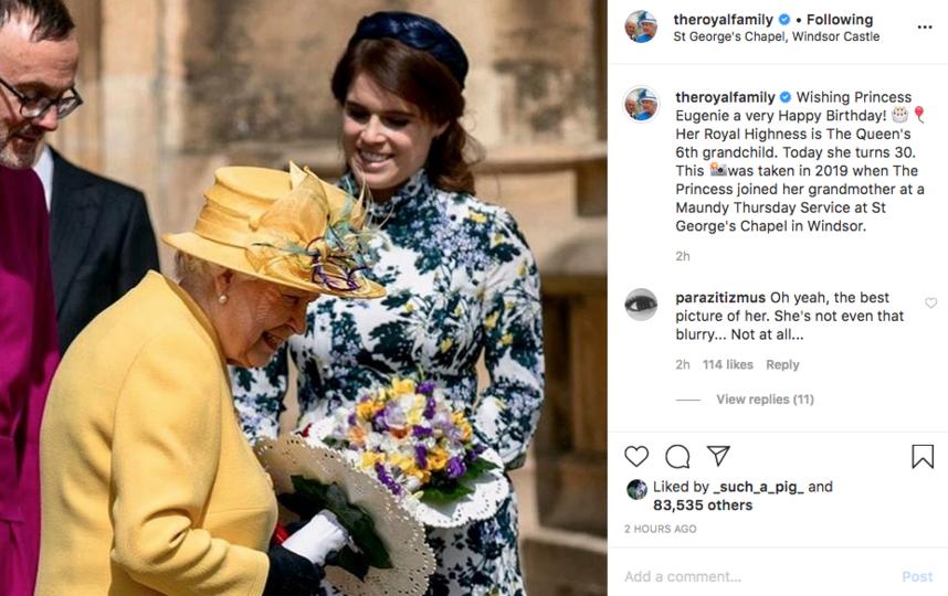 Официальное поздравление Букингемского дворца. Фото скриншот instagram @theroyalfamily