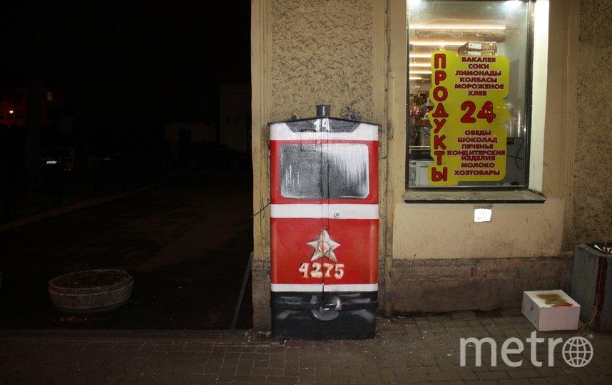Стрит-арт в виде трамвая на Херсонской улице радовал горожан с 2018 года. Фото mytndvor, vk.com