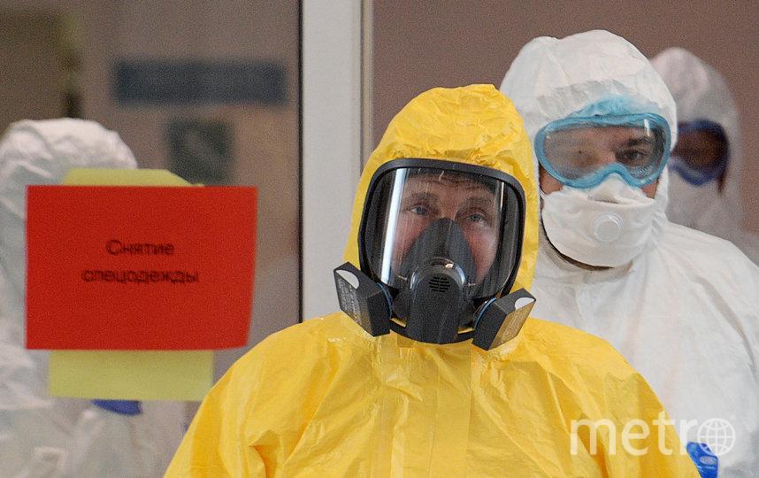 Владимир Путин посетил больницу для заражённых коронавирусом в Коммунарке. Фото Getty
