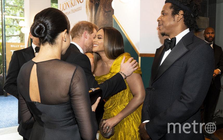 """Принц Гарри и Меган Маркл на премьере фильма """"Король Лев"""" в Лондоне. Фото Getty"""