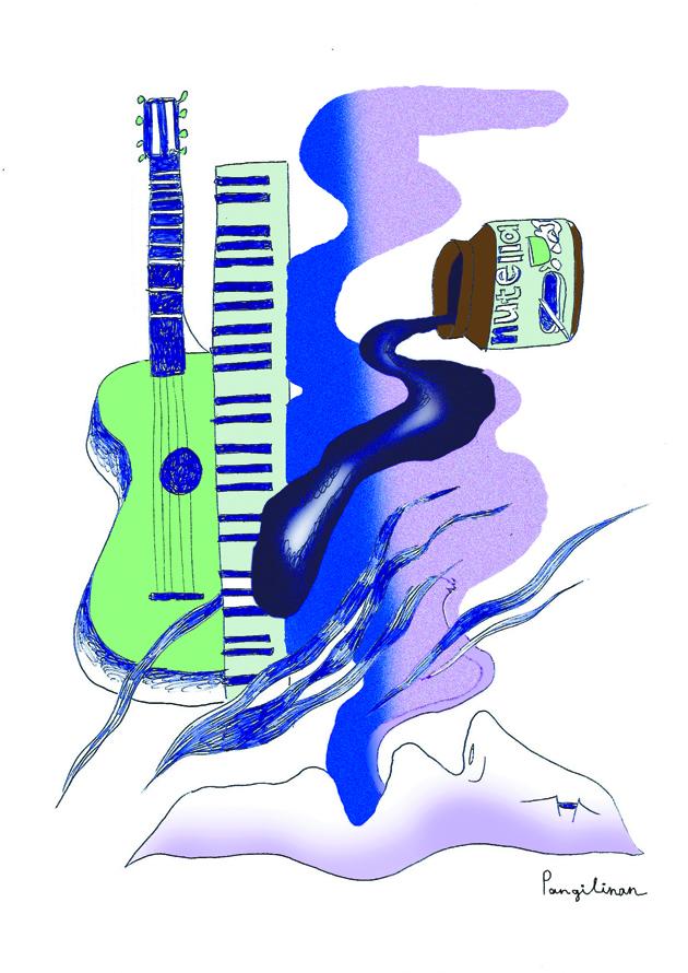 Набор для карантина №2: нутелла, гитара, пианино, голос. Фото предоставила Пангилинан Натали-Кейт | instagram @nataliekatepangilinan