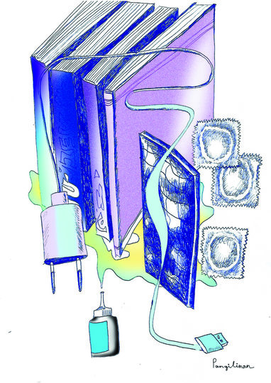 Набор для карантина №1: книги, капли для глаз, зарядка для телефона, презервативы, шоколад. Фото предоставила Пангилинан Натали-Кейт | instagram @nataliekatepangilinan