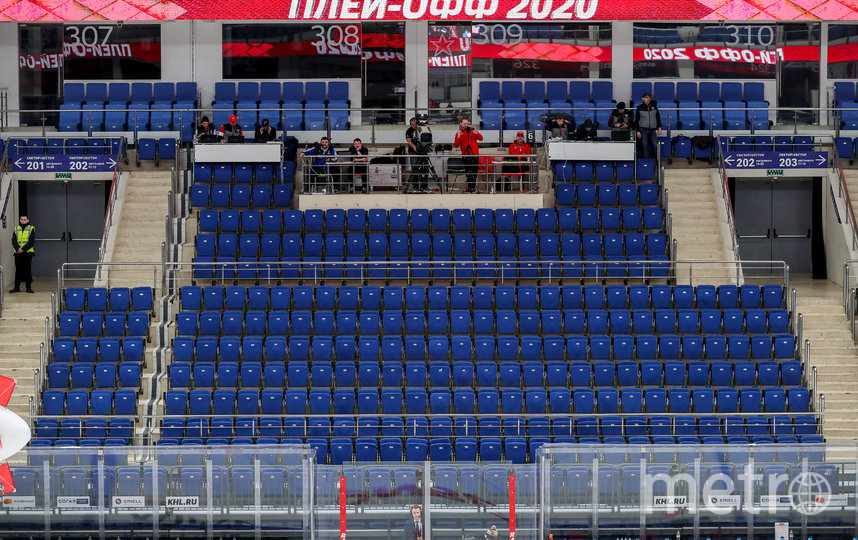 До решения о досрочном окончании сезона в КХЛ успели сыграть только один раунд плей-офф, некоторые матчи прошли без зрителей. Фото Getty
