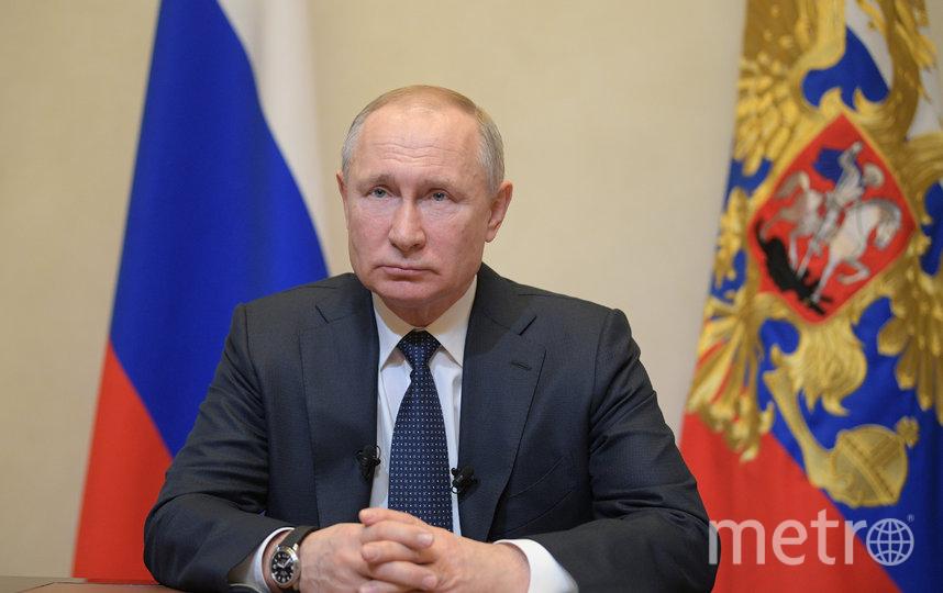 Владимир Путин выступил с обращением к россиянам. Фото Getty