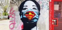 Коронавирус вдохновляет стрит-арт художников
