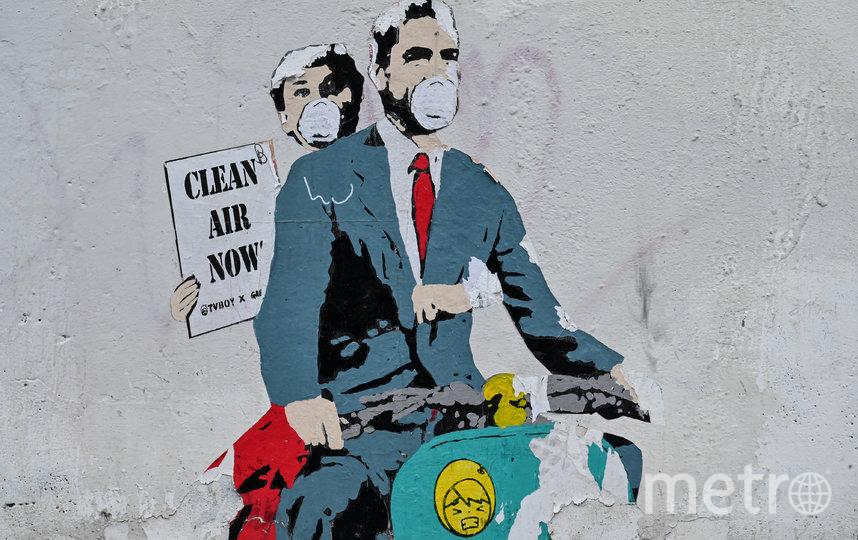 Коронавирус вдохновляет стрит-арт художников. Граффити в Риме. Фото AFP