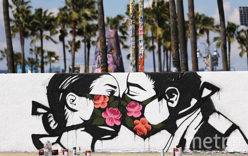 Граффити в Калифорнии. Фото Getty