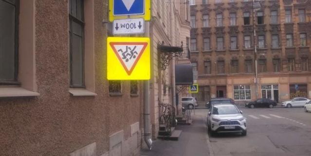 Горожане заметили его 26 марта в Мытнинском переулке.