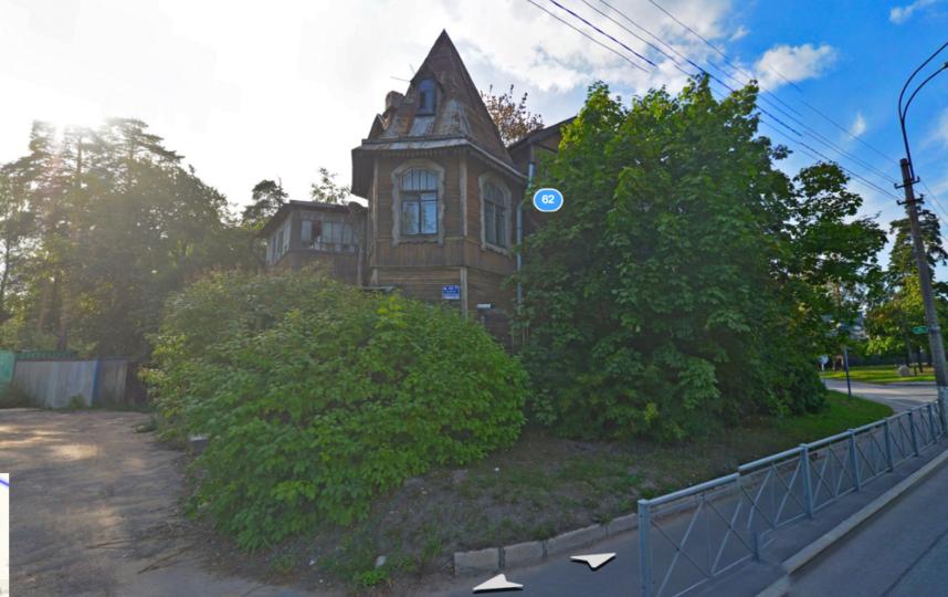 Деревянный жилой дом в Лисьем носу. Фото Яндекс.Панорамы