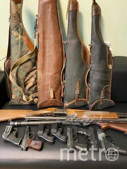 Изъятое оружие. Фото Пресс-служба ГУ Росгвардии