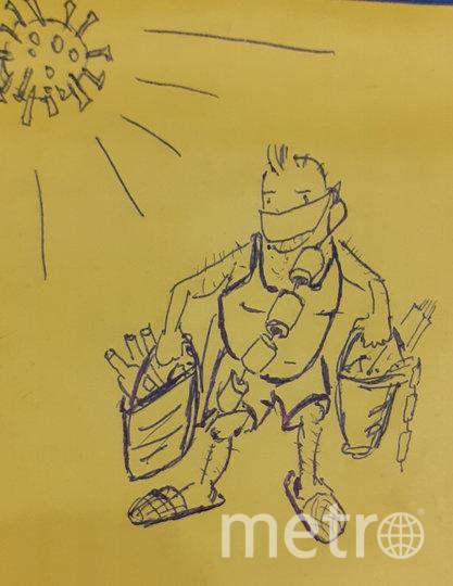 «К коронавирусу готов, К «удалёнке» тоже. Закупился я едой, Подготовил ложе... Буду спать до десяти, Буду много кушать, Сериалы посмотрю, Буду бить баклуши...». Фото читатель Metro Segun Segunov