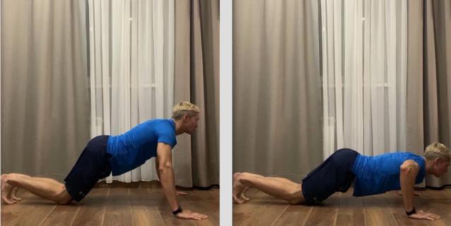 Упражнение 1. Отжимание с колен.