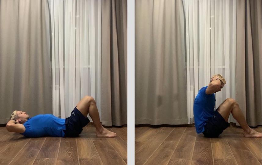 Упражнение 2. Качаем пресс (техника кранчи). Фото Сердар Каррыев