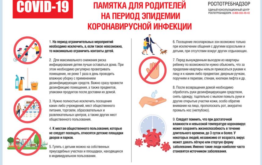 Роспотребнадзор опубликовал памятку для родителей. Фото https://rospotrebnadzor.ru/