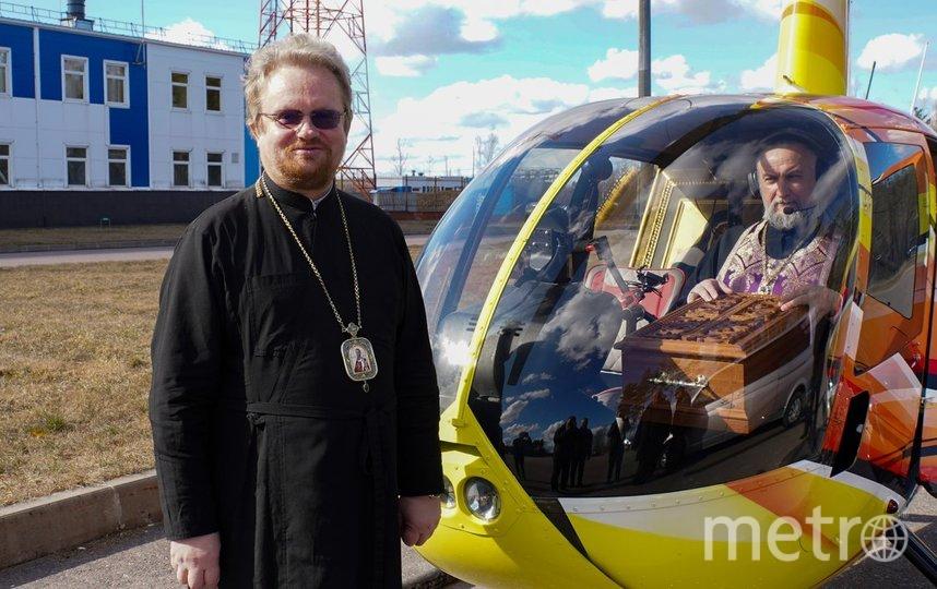 Воздушный крестный ход. Фото Пресс-служба Выборгской епархии