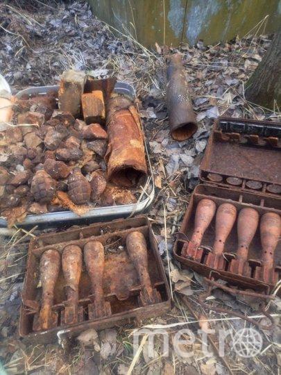 В Ленобласти нашли боеприпасы времён войны. Фото Пресс-служба ГУ Росгвардии