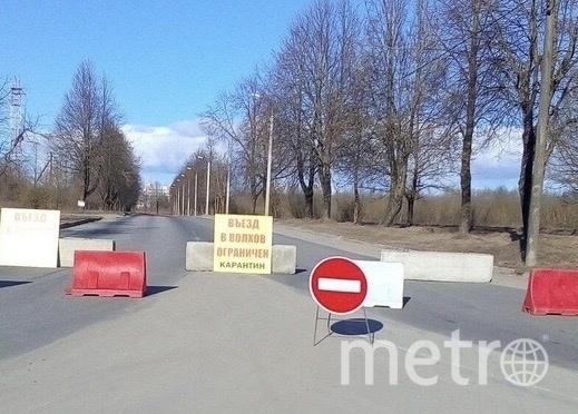 Блокпосты в Волхове. Фото Анна Алексеева.