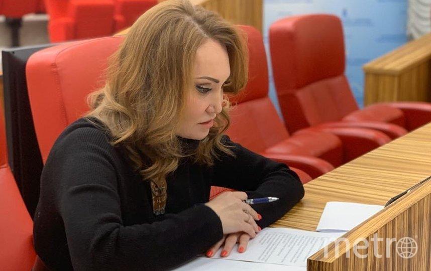 Елена Лаптандер на заседании Законодательного собрания ЯНАО. Фото Скриншот Instagram/laptanderlena