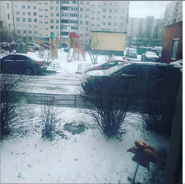 "Горожане удивлены снегом 1 апреля. Фото https://www.instagram.com/p/B-bbmIqg1BV/, ""Metro"""