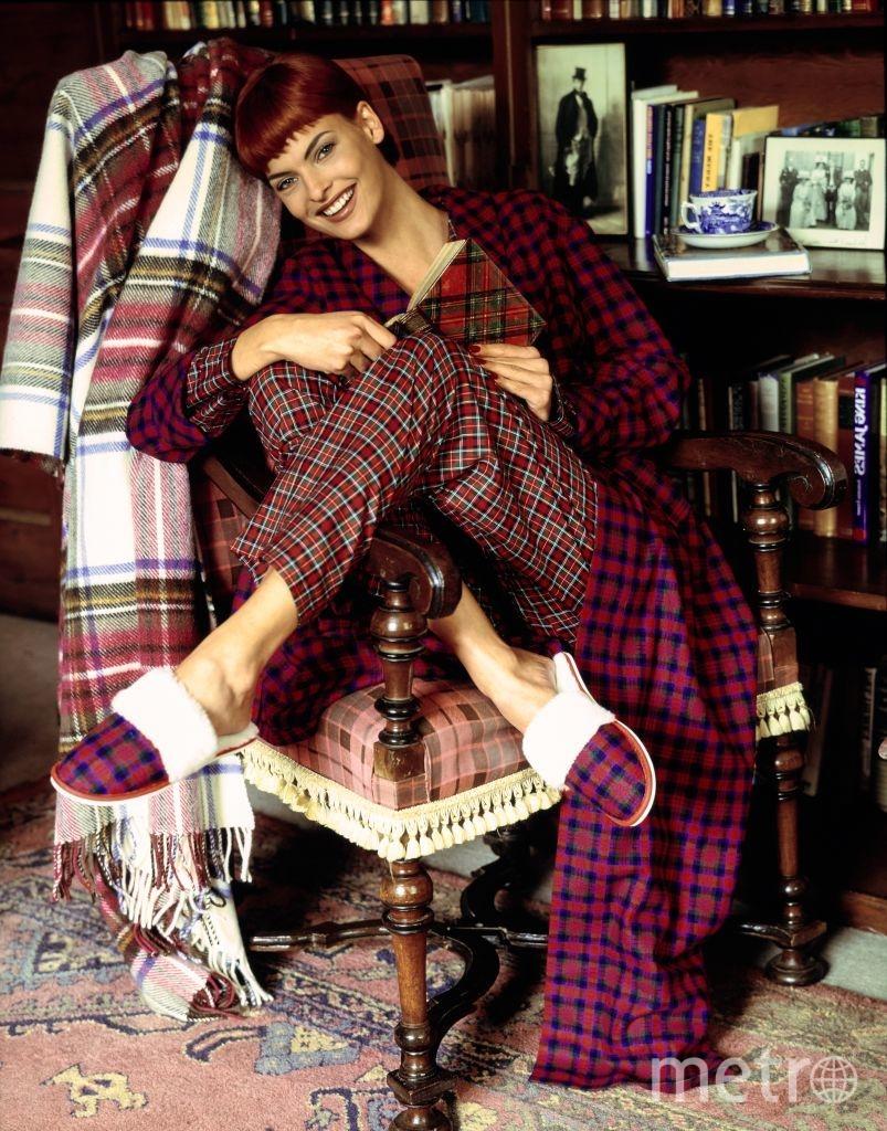 Звезды в пижамах. Линда Евангелиста. 1991 год. Фото Getty