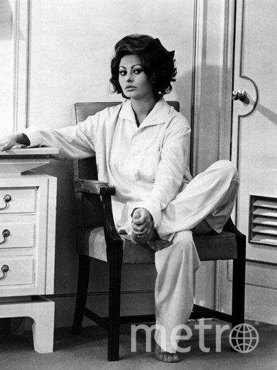 Звезды в пижамах. Софи Лорен. 1961. Фото Getty