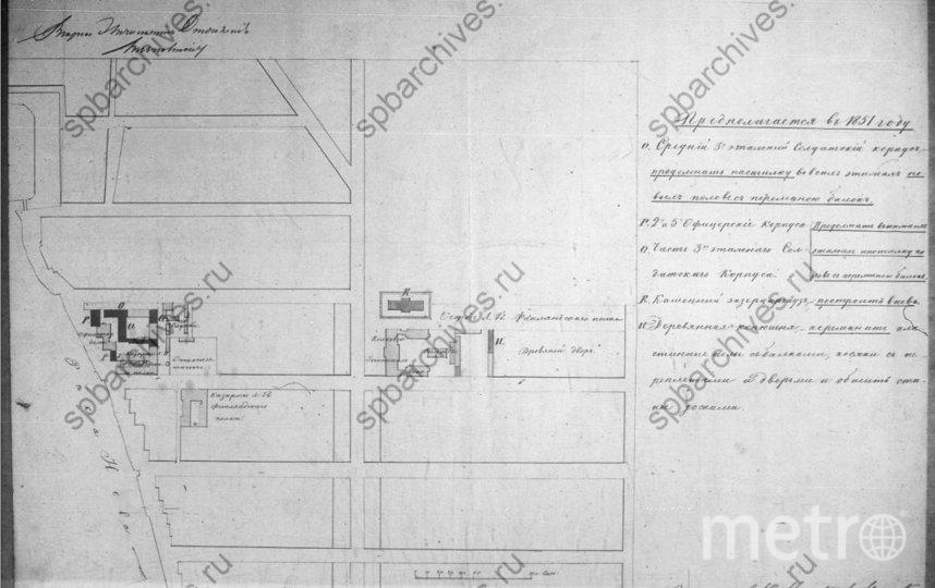 Этот план Манежа датируется 1850-м годом. Фото citywalls.ru