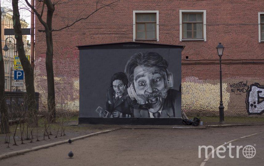 """Новое граффити с персонажами """"Крутого пике"""". Фото myhoodisgood, vk.com"""
