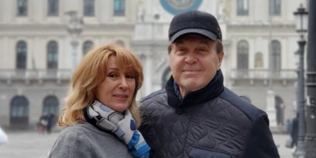 Лев Лещенко и его супруга Ирина.