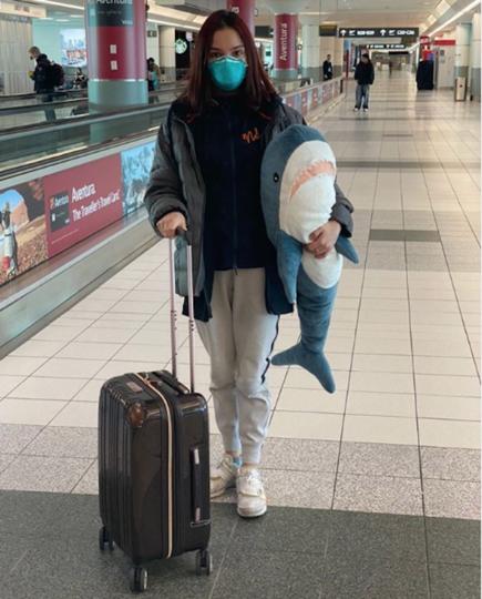 Евгения выложила фотографию из аэропорта в Японии. Фото Instagram @jmedvedevaj