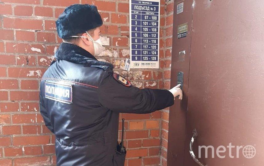 Полиция осуществляет адресную проверку. Фото ГУ МВД РФ по Санкт-Петербургу