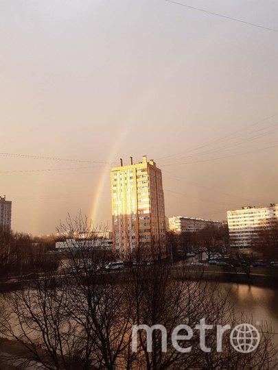 Фото радуги делятся в соцсетях. Фото ДТП и ЧП / Санкт-Петербург /vk.com/spb_today, Лариса Суворова., vk.com