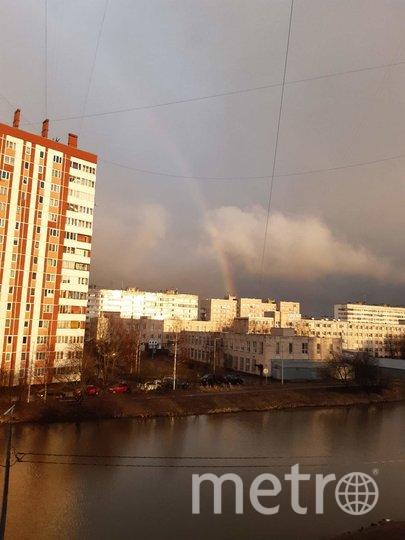 Фото радуги делятся в соцсетях. Фото vk.com/spb_today, Лариса Суворова., vk.com
