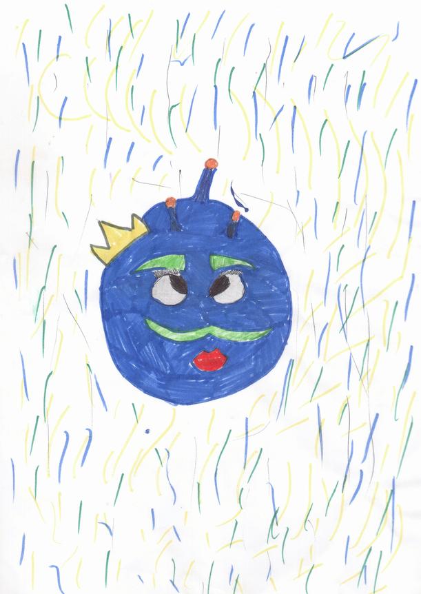 """""""Добрый день! Дочь Полина (10 лет) нарисовала Коронавирус. «Коронавиурс, который никогда не СПАЛ!». Фото Оксана Патраман"""
