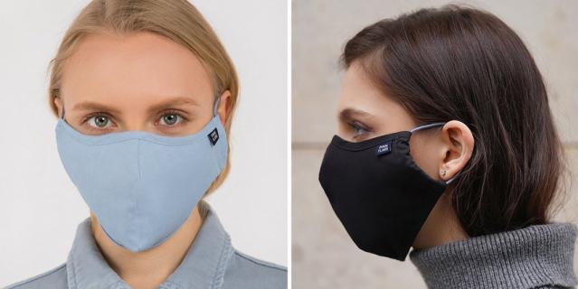 Многоразовая двухслойная маска из хлопка с карманом для фильтра FINN FLARE (399 руб).