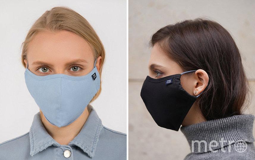 Многоразовая двухслойная маска из хлопка с карманом для фильтра FINN FLARE (399 руб). Фото https://www.finn-flare.ru/