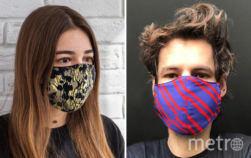 Многоразовая маска для лица из шелка, хлопка и вискозы INSHADE (1000 руб). Фото https://www.instagram.com/inshadeofficial/