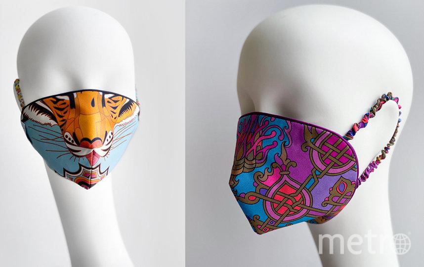 Многоразовая маска из шелка и хлопка Sirinbird (3000 руб). Фото https://sirinbird.ru/