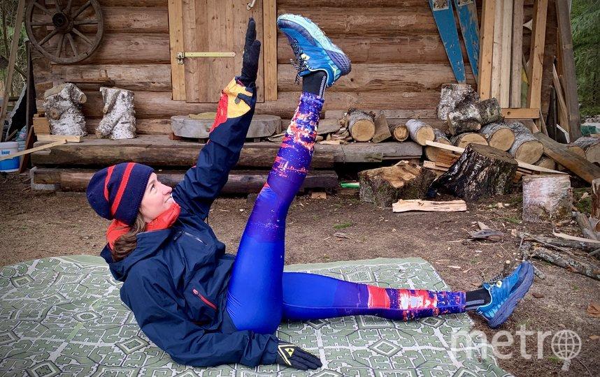 Упражнение на пресс. Фото предоставлено Анастасией Нифонтовой.