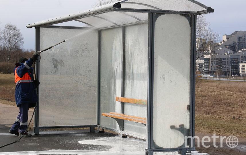 """В Петербурге проводят работы на улицах по дезинфекции. Фото gov.spb.ru/gov/otrasl/blago, """"Metro"""""""