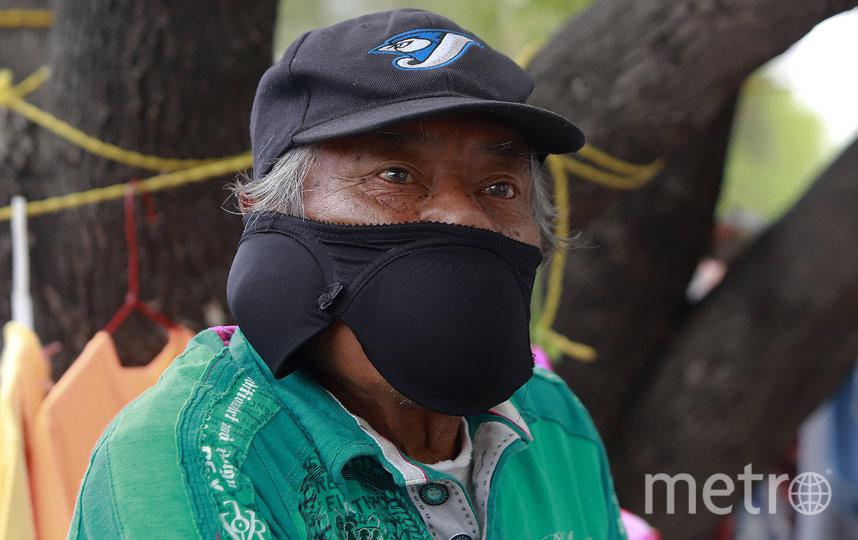 Чашки бюстгальтера как основа маски. Фото Getty