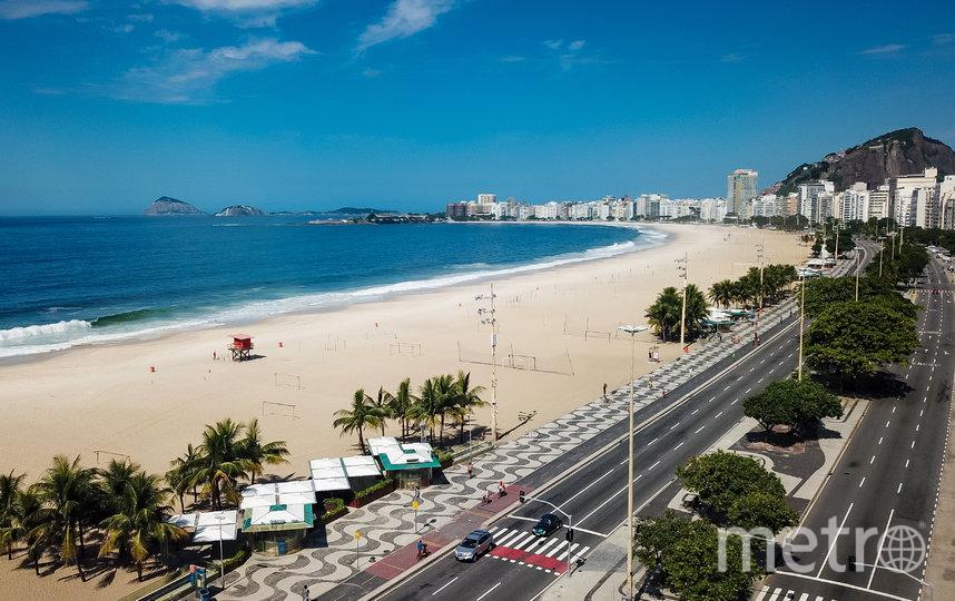Пляж Копакобана в Рио-де-Жанейро во время самоизоляции, Бразилия. Фото Getty