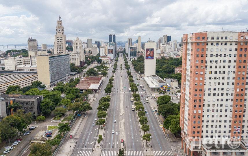 Безлюдные улицы в Рио-де-Жанейро, Бразилия. Фото Getty