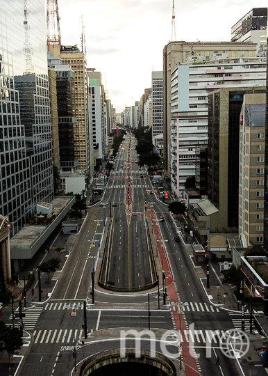 Безлюдные улицы в Сан-Паулу, Бразилия. Фото Getty