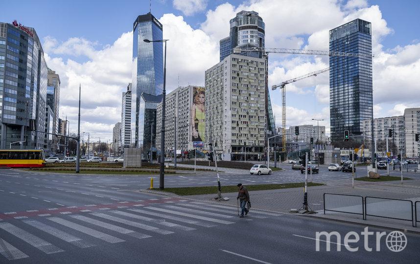 Безлюдная Варшава, Польша. Фото AFP
