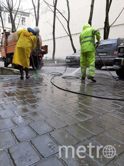 Обработка улиц в Петербурге. Фото gov.spb.ru/gov/otrasl/blago