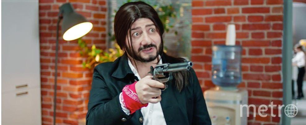 Михаил Галустян в образе Антонио Бандераса. Фото Предоставлено пресс-службой телеканала СТС.