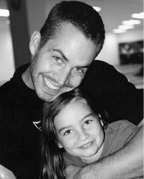 Мидоу Рэйн Уокер с отцом. Фото скриншот: instagram.com/meadowwalker/