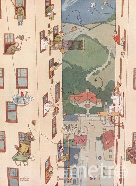 Карикатура Уильяма Хита Робинсона, датированная началом XX века.